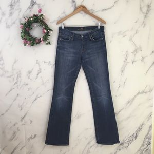 7 For All Mankind Long Legs LowRise Bootcut Jeans.